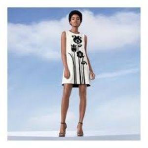 NWT Victoria Beckham Black White Sheath Dress S